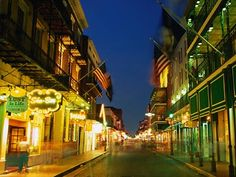 Bourbon St in New Orleans...the beauty & history
