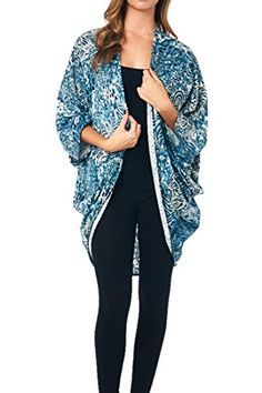 82 Days Women'S Poly Rayon Open Front High Low Kimono Style Cardigan - A05 Teal & White S 82 Days http://www.amazon.com/dp/B00MH5POY8/ref=cm_sw_r_pi_dp_W-rLvb078Z9QN