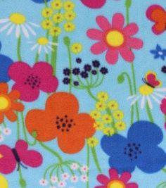 Anti- Pill Fleece Fabric- Summer Flowers
