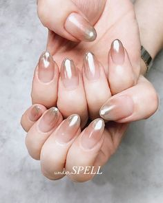 Pin on ネイル Neutral Nails, Nude Nails, Gel Nails, Minimalist Nails, Mirror Nails, Kawaii Nails, Nails Only, Summer Acrylic Nails, Hair Skin Nails