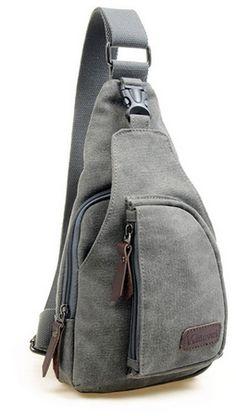 Casual Canvas Crossbody Sling Bag