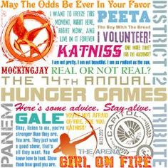 Multi-coloured Quotes from The hunger games
