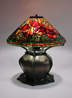 Would LOVE to own this! Tiffany Studios Poppy Lamp circa 1906