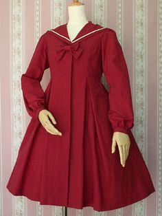 VM Waterproof Sailor Coat in Cherry