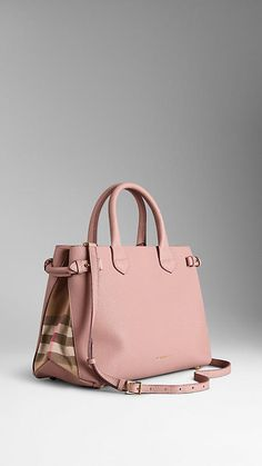 Probably the first Burberry bag I've ever liked. The Medium Banner in Leather and House Check, Nude Blush
