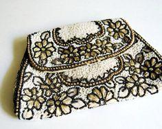 vintage french beaded purse formal belt bag dance purse art nouveau antique evening purse-f77997.jpg (570×456)