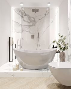 White Interior Design, Luxury Homes Interior, Bathroom Design Luxury, Bath Design, Futuristic Interior, Bathroom Styling, House Rooms, Bathroom Inspiration, House Styles