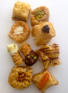 Unique Baklava Varieties: Coconut, Chocolate, Prunes, Apricots, Pistachio, Walnut, Almond and so much more... Turkish Recipes, Ethnic Recipes, Turkish Baklava, Turkish Kitchen, Coconut Chocolate, Phyllo Dough, Arabic Food, Spanakopita, Pistachio