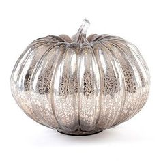 glass pumpkin, silver, mercury silver