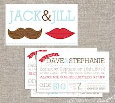 Jack jill tickets mr and mrs 250 or 500 double sided for Jack and jill ticket templates