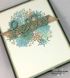 Stampin' Up! Oh So Succulent Hello