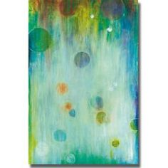 Add festive color to a space with this cheerful abstract. UV coated to prevent fading; this artist grade canvas has natural colored edges and is stretched using a spline finish. Artist: Liz Jardine Ti