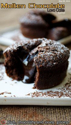 Molten Chocolate Lava Cake is a great treat to celebrate any occasion! It's very easy to make this cake and it's ready within 30 minutes!