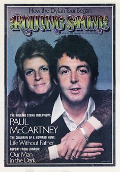 Paul McCartney and Linda Eastman-McCartney on the cover of Rolling Stone