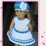 Crochet Dolls Clothes free crochet patterns for american girl doll clothes - Yahoo Image Search Results Girls Knitted Dress, Crochet Doll Dress, Crochet Doll Clothes, Girl Doll Clothes, Girl Dolls, Knit Dress, American Girl Outfits, American Doll Clothes, American Girls