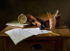 Still Life, Escola, Retro, Tinta