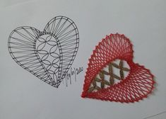 Bobbin Lacemaking, Bobbin Lace Patterns, Lace Heart, Lace Jewelry, Happy Valentines Day, Lace Detail, Bullet Journal, Butterfly, Ideas