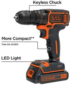 Black Decker Bdcdd120c 20v Max Lithium Single Speed Drill Driver Drillinfo Com Speed Drills Drill Driver Drill