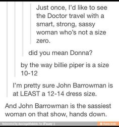 Hmmm, River and Captain Jack sharing dresses and sassy/snarky remarks ... wouldn't that be something!