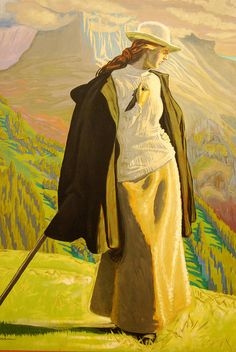 J.F Willumsen - 1863 -1958 /1912 / A Mountain Climber. This painting is one of the highlights of The Danish National Gallery - http://www.smk.dk/