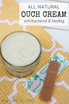 DIY Ouch Cream!  Like All Natural Neosporin!  Anti Bacterial and Healing!  Via View From The Fridge