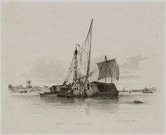 Sailing barges and canal boats, 1829.