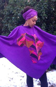 Purple Africa Poncho Tabatap