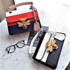 81f53fa6b4 US $17.62 39% OFF 2018 Luxury Crossbody bag Women Colorful splicing Little  Bee Bags Design Handbag Female Shoulder Bags Messenger Bag Sac Femme-in  Shoulder ...