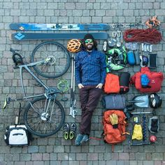 Arc'teryx athlete Paolo Marazzi is about to ride 250 km from Milan to reach an isolated valley & go backcountry skiing. Best of luck! #SMOG2015