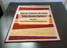 Camino de mesa patrón Table Runner Pattern