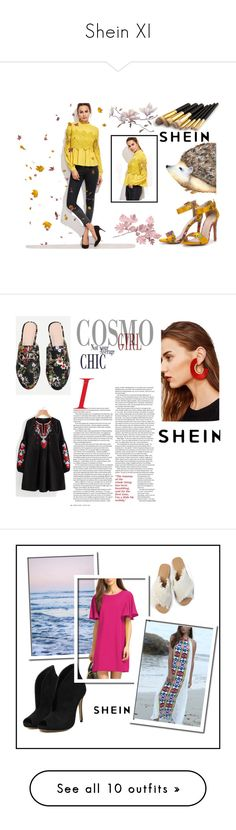"""Shein XI"" by obsessedwithnicestuff ❤ liked on Polyvore featuring shein, loveshein, sheinfashion, Jimmy Choo, Kiyonna, SheInLove, Pottery Barn, Bobbi Brown Cosmetics and Sheinside"