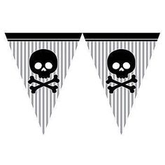 Pirate Flag Pennant Banner