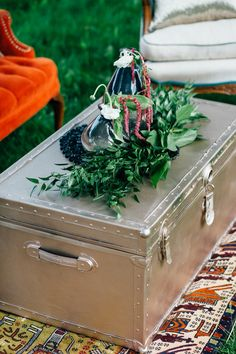 North Country Vintage rose gold trunk