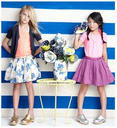 jcrew kids springtime skirts