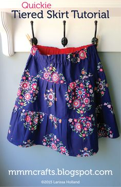 mmmcrafts: quick tiered skirt tutorial for preteens