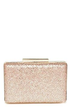 5faa58bacc0 Can't Miss Me Gold and Pink Glitter Clutch at Lulus.com! #