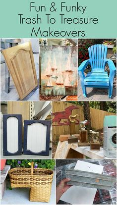 Trash to treasure makeovers from thrift store finds! Quick and easy thrift store basket makeover using items you probably have in your craft room right now. Thrift Store Furniture, Thrift Store Crafts, Furniture Makeover, Diy Furniture, Dresser Furniture, Furniture Refinishing, Refurbished Furniture, Repurposed Furniture, Dressers