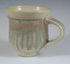 Ash-glazed Porcelain mug by RaysPottery on Etsy
