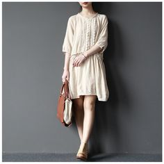I'm in love. This is so feminine and cute! I'm not sure how this dress specifically would actually look on me, but I like the light and easy cotton look! Want this in my closet!  find here www.buykud.com