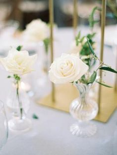 The Grandeur House Wedding with a Modern Farmhouse Style All White Wedding, White Wedding Flowers, Spring Wedding, Wedding Day, Used Wedding Decor, Wedding Decorations, White Centerpiece, Centerpieces, White Flower Arrangements