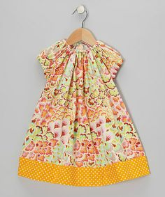 Take a look at this Orange Peacock Myrtle Swing Dress - Toddler & Girls by Frankie & Sue on #zulily today!