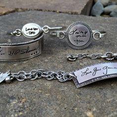 9 creative ways to preserve handwriting grief pinterest sterling handwritten messages chain bracelet stylish jewelryunique jewelryjewelry giftsdiy solutioingenieria Images