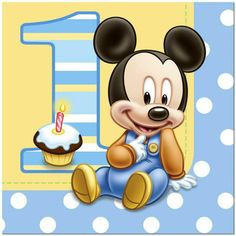Mickey 1st Birthdays, Mickey Mouse 1st Birthday, Baby Mickey Mouse, Happy 1st Birthdays, Boy First Birthday, Happy Birthday, Birthday Greetings, 1st Birthday Party Supplies, 1st Birthday Parties