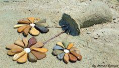 Stone art in Hungary by tamas kanya land art Stone flowers