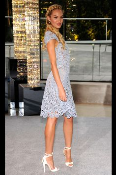 Candice Swanepoel, in #Valentino at the 2012 #CFDA Fashion Awards.