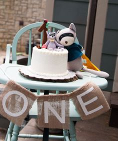 Eli's Woodland First Birthday Party | CatchMyParty.com