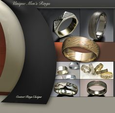 unique men's wedding bands | Unique Men's Wedding Bands | Rings Unique. too bad can't find these anywhere