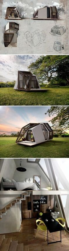 RE: Beautiful Tiny House! You don't build the Mobile home. You buy it, and it ships to your location, assembled and ready to use! The Mobile House is therefore a product, rather than a space, meaning it isn't technically real estate. Exterior Design, Interior And Exterior, Interior Ideas, Building A Container Home, Mobile Home, Interior Architecture, Folding Architecture, Mobile Architecture, Future House