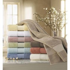 Elegance Towels: Kassatex® 700 gsm Plush Elegance Towels are made from the world's finest Long Staple Turkish Cotton from the Aegean region of Turkey with an Uncompromising quality, unparalleled softness, Superior resiliency and durability. These Towels are famous for their Luxurious softness and absorbency. Stitched with Sewn in Hanger Loop.
