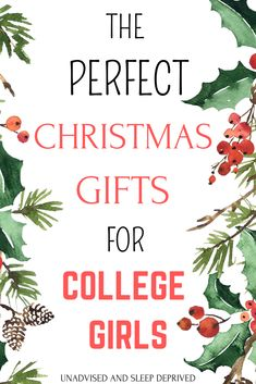 Christmas Gifts for College Girls The perfect list of Christmas gifts for college girls. The best Christmas gift ideas for friends and daughters! Christmas Presents For Girls, Christmas Gift Daughter, Perfect Christmas Gifts, Christmas Fun, College Student Gifts, College Fun, College Students, Gifts For College Girls, Holiday Gift Guide
